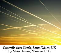 Contrails over Neath
