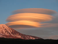 Lenticular clouds near Mt Adams photographed by Darlisa Black