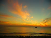 Frank Le Blancq's photo of sunset over Rocco Tower in St. Ouen's Bay, Jersey