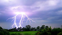 Lightning in Lincolnshire, taken by our photo gallery editor Ian Loxley