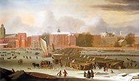 The Frozen Thames, Abraham Hondius, Museum of London