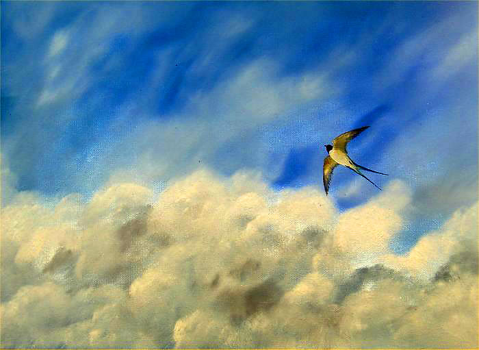 Freedom of the Skies, oil, © Ian Peill, Herefordshire, UK