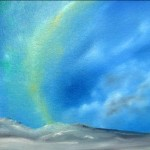 Iceland - the Shimmering Northern Lights, oil, © Ian Peill, Herefordshire, UK