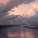 Flussmitwolken, © Michael Kraehmer, Tuebingen, Germany