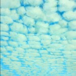 "Cloud Blocking, Blue and Gray, acrylic on canvas, 84"" x 60"" © Lisa Grossman, Lawrence, Kansas, USA"