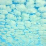 "Cloud Blocking, Blue and Gray, acrylic on canvas, 84"" x 60"" © Lisa Grossman, Lawrence, Kansas, USA"