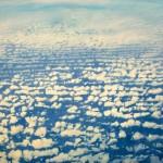 "From Above-Cloud Streets, acrylic on canvas, 78"" x 94"" © Lisa Grossman, Lawrence, Kansas, USA"
