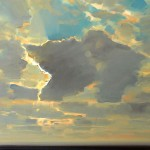 "Clouds From the Cold Front, oil on canvas, 22"" x 24"" © Lisa Grossman, Lawrence, Kansas, USA"