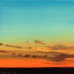 "Konza Darkness Sketch II, oil on panel, 6"" x 6"" © Lisa Grossman, Lawrence, Kansas, USA"