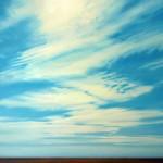 "Prairie Sky Patterns, oil on canvas, 40"" x 60"" © Lisa Grossman, Lawrence, Kansas, USA"