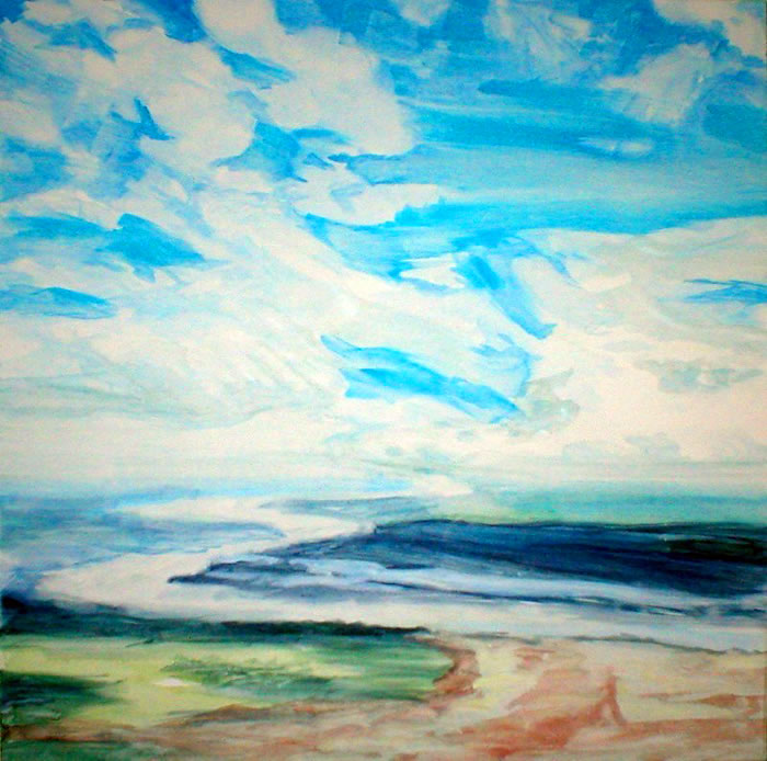 "Clearing Sky, oil on canvas 30"" x 30"" © Emilie Lemay, Winnipeg, Canada"