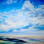 "Rolling Sky, oil on canvas 30"" x 30"" © Emilie Lemay, Winnipeg, Canada"
