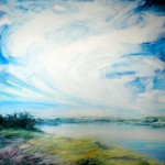 "Windswept Sky, oil on canvas 30"" x 30"" © Emilie Lemay, Winnipeg, Canada"