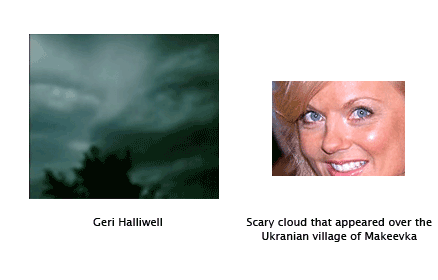 Geri Halliwell cloud scares the Ukraine