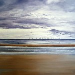 Crosby Beach, 14ins x 11ins, oil on canvas panel © Hannah Price, Liverpool, UK