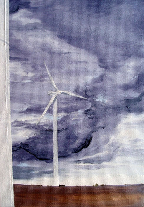 Eolienne, 7ins x 5ins, oil on canvas board © Hannah Price, Liverpool, UK