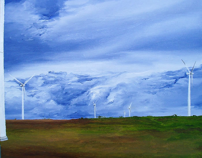 Power of the Sky, 10ins x 8ins, oil on canvas board © Hannah Price, Liverpool, UK