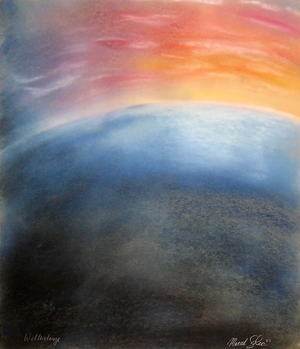 Weltendinge (Matters of the World), dry pastels © Marcel Solca, Switzerland and Sweden
