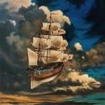 Cloudship © David A Hardy