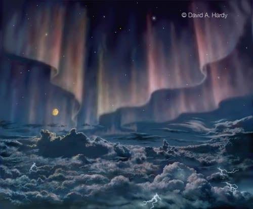Jupiter Aurora © David A Hardy