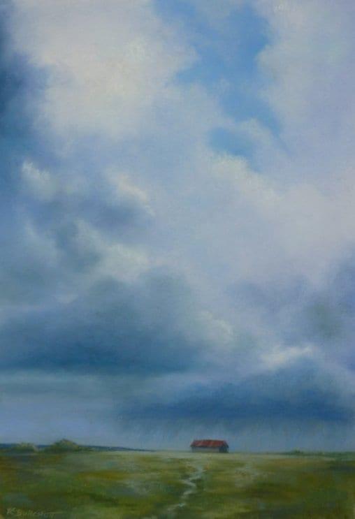 Raining Up By The Barn © Regina Calton Burchett