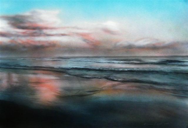 Wet sand, lowtide © Vernon Swart