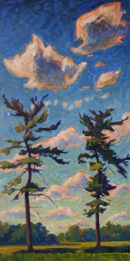 two trees with clouds © Christopher Stephens