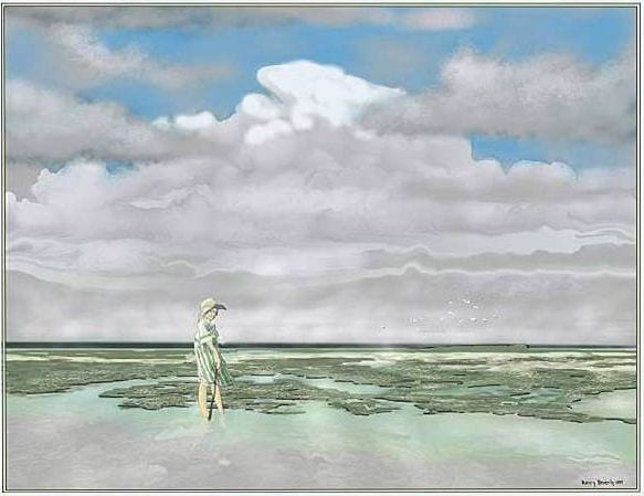 Wading Salt The Flats © Kerry Beverly