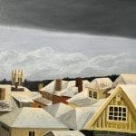 rooftops with cloud bank © Karen Larson esize