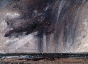 John Constable, R.A. (1776-1837) Rainstorm over the Sea ca. 1824-1828 oil on paper laid on canvas 235 x 326 mm © Royal Academy of Arts, London; Photographer: John Hammond