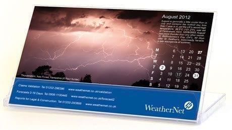 WeatherNet Calendar © Weathernet Ltd