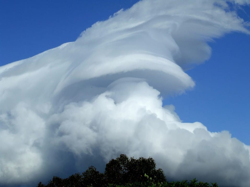 A Cap cloud over Lions Head, Cape Town, South Africa.