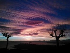 Sunrise over Santander on the north coast of Spain