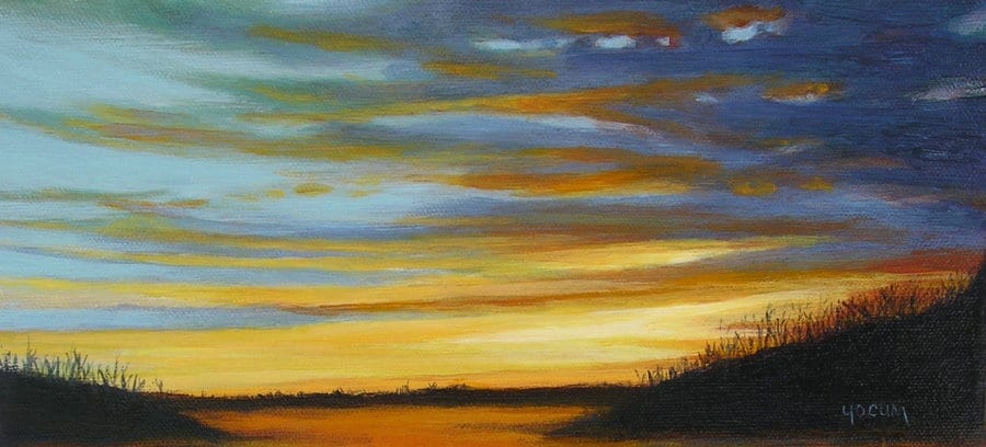 Winter Sunset 5 1/2 x 12 ©  Sandra Yocum