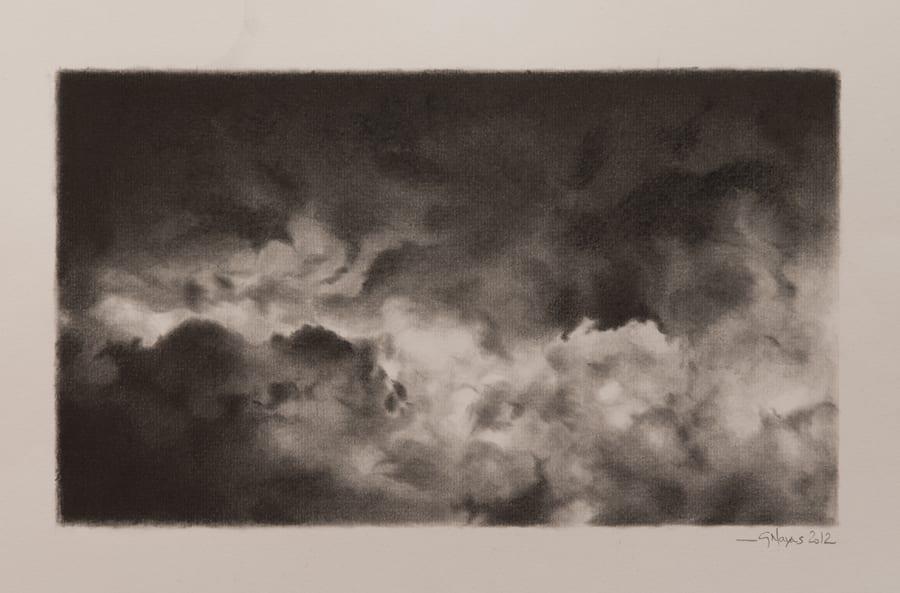 Cloudscape in black and greys © Gracia Navas