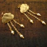 Gold Cloud Earrings