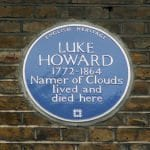 The blue plaque outside 7 Bruce Grove, Tottenham, London