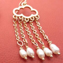 Gold Cloud Earrings (with cloud outlines)