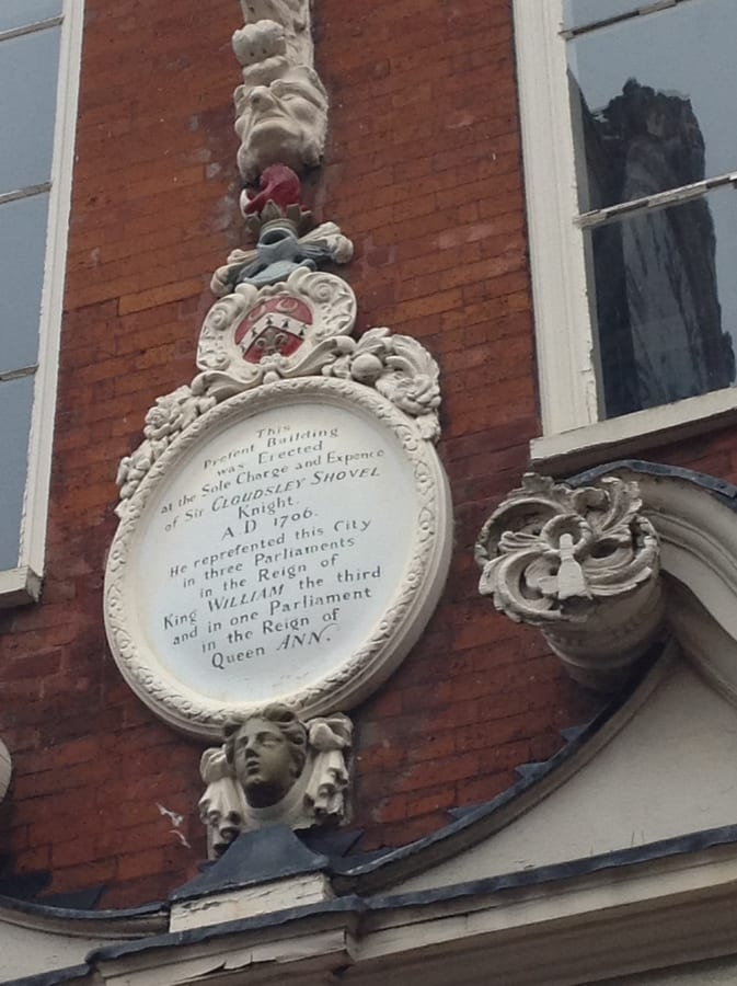 Plaque at Rochester taken by Jan McIntyre