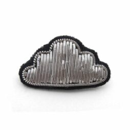 Hand-embroidered cloud brooch