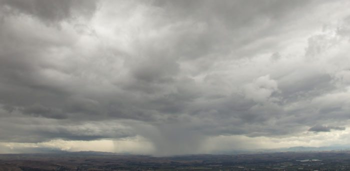 A 'cloud sneeze' (microburst) over Hawkes bay, New Zealand.