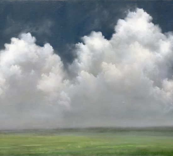 Cumulus Clouds,  Cape Cod 16 x 22  Oil on Linen ©  Materese Roche
