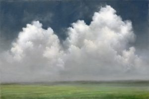 Cumulus Clouds,  Cape Cod /  16 x 22 / Oil on Linen / Materese Roche