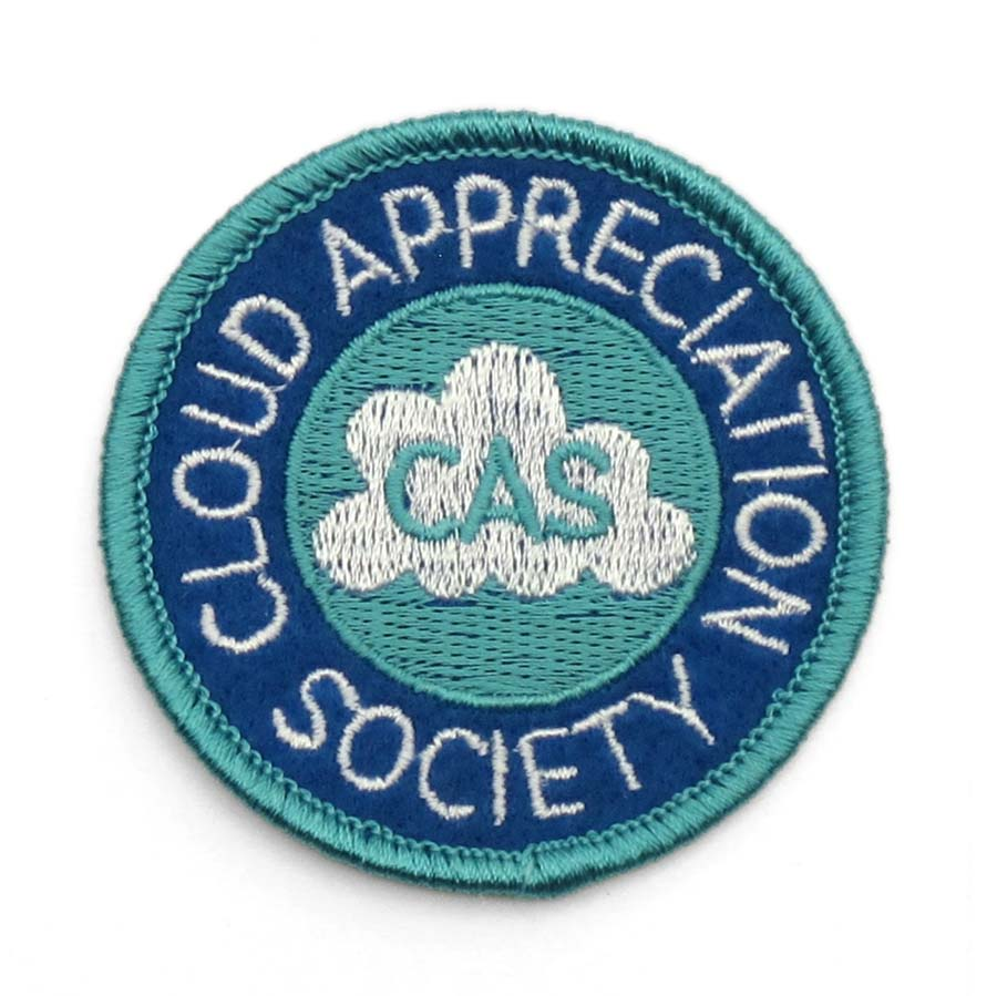 cloud appreciation society cloud appreciation society embroidered patch. Black Bedroom Furniture Sets. Home Design Ideas
