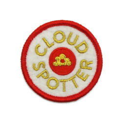 'Cloudspotter' embroidered patch