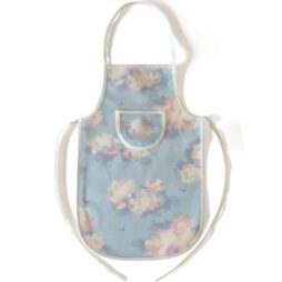 Children's Cloud Apron (cream edging)