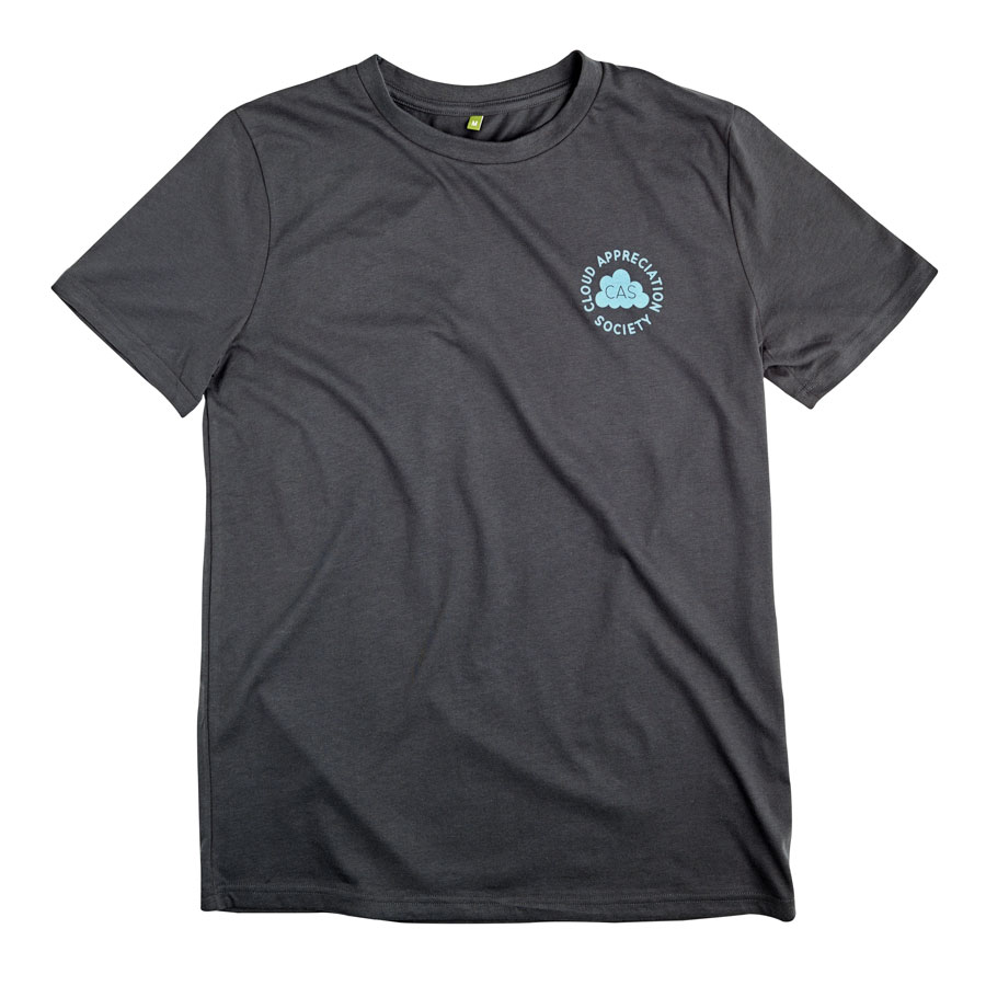 2bc59304c CAS T-shirt in Dark Grey with Light Blue Logo – Cloud Appreciation ...