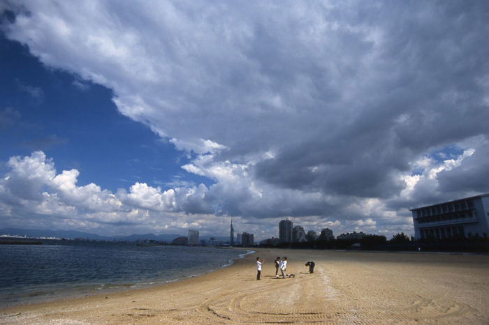 A shade of Cloud over Marinatown Seaside Park , Fukuoka City, Japan.