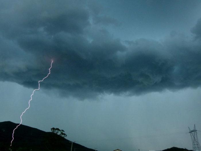 A storm system over Ribeirao da Ilha, Florianopolis.