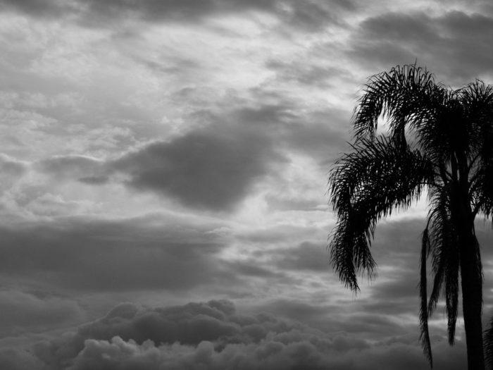A monochrome cloudscape from Florianopolis, Brazil.